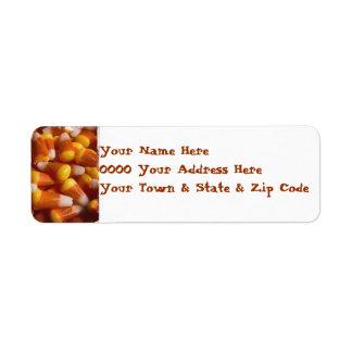 Halloween candy corn address labels