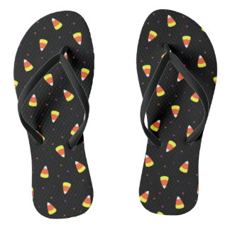 Halloween Candy Corn Pattern Flip Flops
