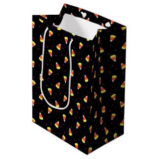 Halloween Candy Corn Pattern Medium Gift Bag