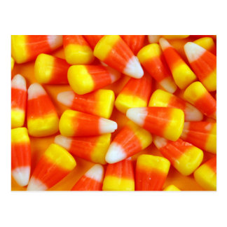 Halloween candy corn postcard