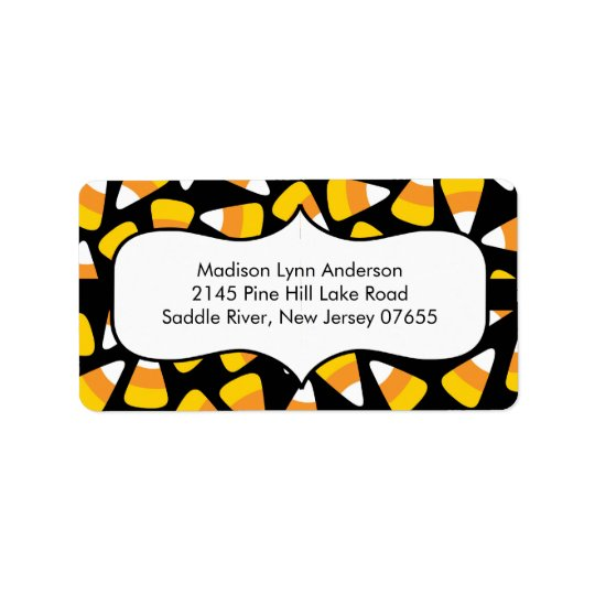 Halloween Candy Corn  Return Address Labels.