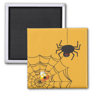 Halloween Candy Corn Square Magnet