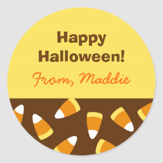Halloween Candy Corn Treat Bag Stickers