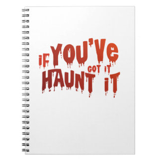 Halloween Candy Funny Haunt It Notebook