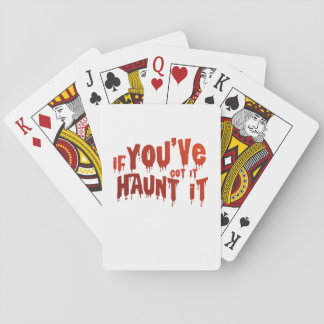 Halloween Candy Funny Haunt It Playing Cards