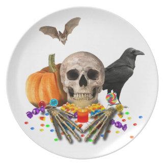 Halloween candy keeper plate