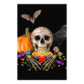 Halloween candy keeper stationery