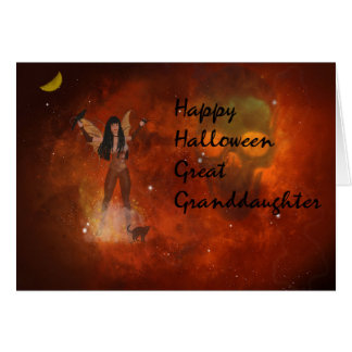 Halloween card for Your Great Granddaughter