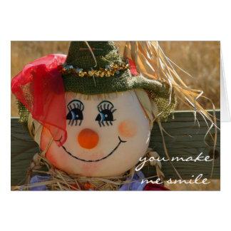 Halloween Card--Scarecrow Girl--Harvest Card