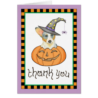 Halloween Cardigan Welsh Corgi Card