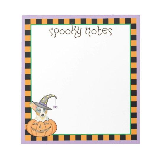 Halloween Cardigan Welsh Corgi Notepad