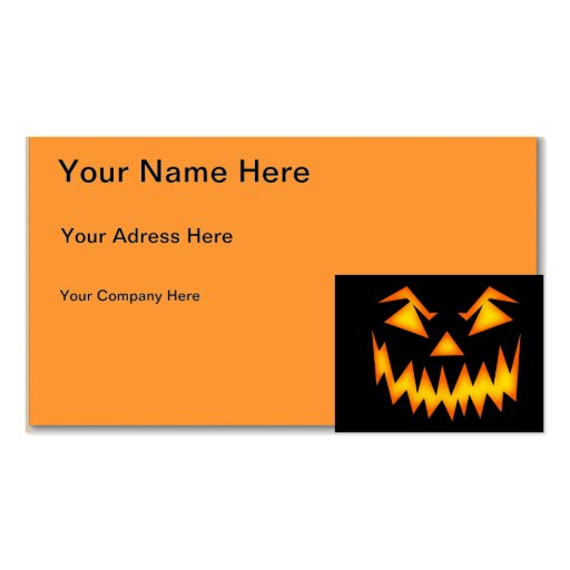 Halloween Modèles De Cartes De Visite
