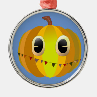 Halloween Cartoon Christmas Pumpkin Metal Ornament