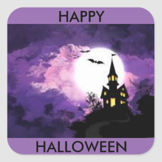 Halloween castle sticker