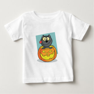 Halloween Cat Inside Pumpkin Baby T-Shirt