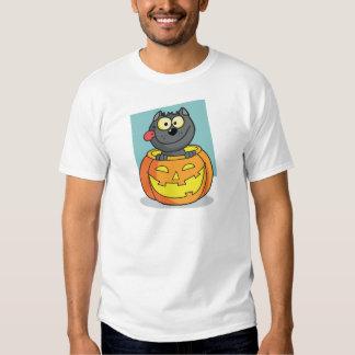 Halloween Cat Inside Pumpkin T-shirt