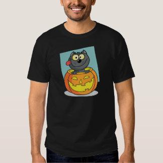 Halloween Cat Inside Pumpkin Tees