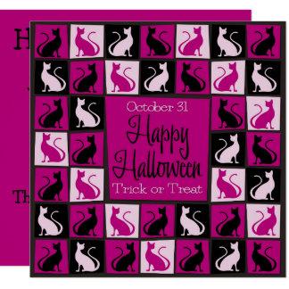 Halloween cat mosaic card