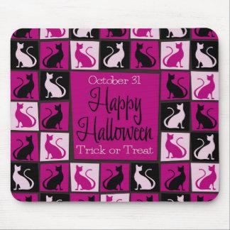 Halloween cat mosaic mouse pad