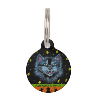 Halloween cat pet tag