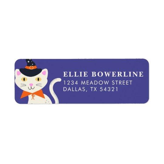 Halloween Cat Return Address Label