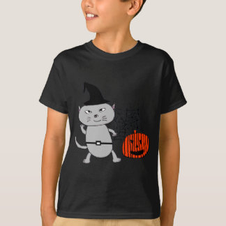 Halloween cat tee shirt