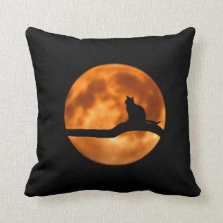 Halloween Cat Throw Pillow