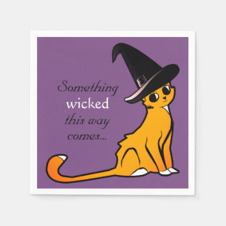 Halloween Cat Witch - Napkins Paper Napkin
