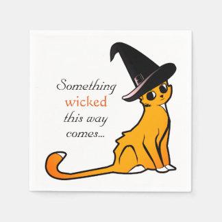 Halloween Cat Witch - Napkins Paper Napkins
