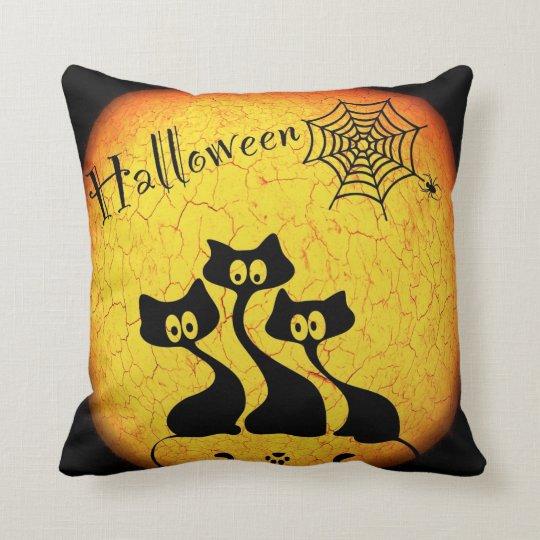 Halloween Cats Throw Pillow