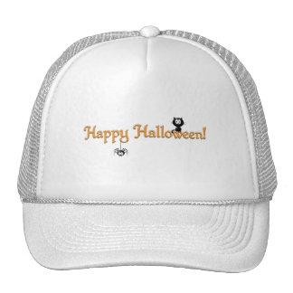 Halloween-Chat et araignée heureux Casquettes