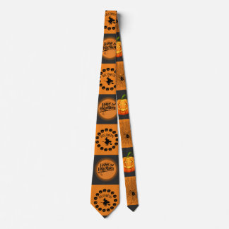 Halloween Chessboard Tie