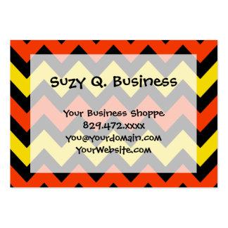 Halloween Chevron Striped Pattern Black Orange Pack Of Chubby Business Cards