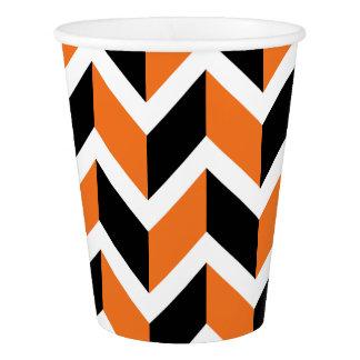 Halloween Chevrons Paper Cup