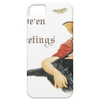 Halloween Child Witch with Black Cat iPhone 5 Case