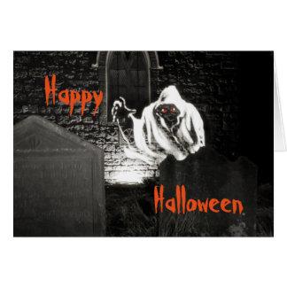 Halloween churchyard greeting card