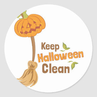 Halloween Clean Round Sticker