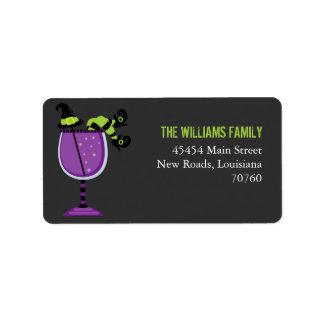 Halloween Cocktail Label