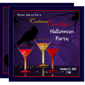 Halloween Cocktail Party Invitation