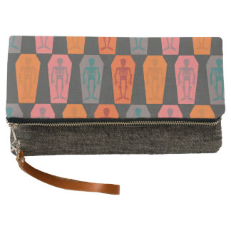 Halloween: colorful skeletons clutch