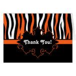 Halloween colours zebra stripes black and orange