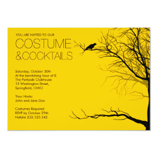 Halloween Costume and Cocktails Card