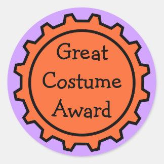 Halloween Costume Award Stickers