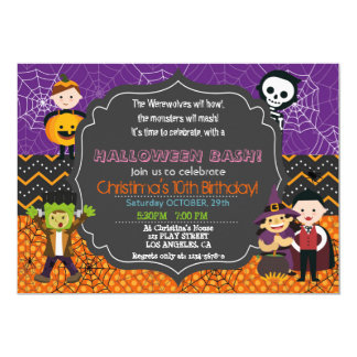 Halloween Birthday Invitations Announcements Zazzle Canada