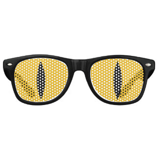 Halloween Costume Cat Eyes Glasses. (Yellow) Retro Sunglasses
