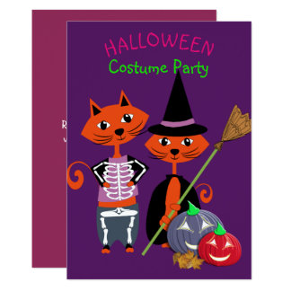 Halloween Costume Party Editable Cute Fun Card