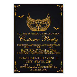Halloween Costume Party Gold Card
