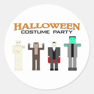 Halloween Costume Party Round Sticker