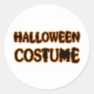 Halloween Costume Round Sticker