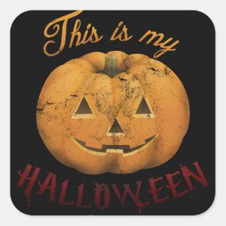 Halloween costume square sticker